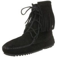 [ミネトンカ] MINNETONKA 公式 TRAMPER ANKLE HI BOOT  429 BLACK (BLACK/US8)