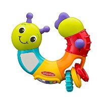 Infantino Topsy Turvy Twist and Play Caterpillar Rattle by Infantino