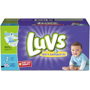 Diapers,Luvs,S2 Fmly,96Ct by Luvs
