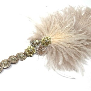 Deanna DiBene Milliney / Flapper headband (champagne taupe and gold)