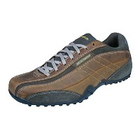 Skechers Urbantrack Imperial Mens Leather Walking Sneakers / Shoes-Brown-29