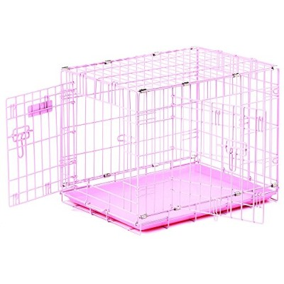 Precision Pet ProValu, Double Door Dog Crate Pink by Precision Pet
