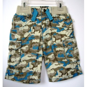 BABY NAY (ベビーネイ) [It's a Small World by Baby Nay] Animal Camo Woven Cargo Short ボーイズ アニマル カーゴ...