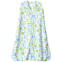 HALO SleepSack Wearable Blanket Microfleece - Blue Jungle Trees (Large) by Halo