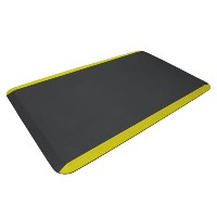 NewLife by GelPro 104-01-2436-7 EcoPro Commercial Mat, 24 x 36, Black with Yellow Safety Stripe by...