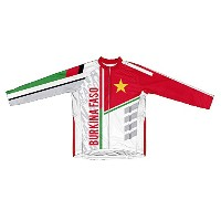 Burkina Faso ScudoPro冬Thermal Cycling Jerseyの女性 M