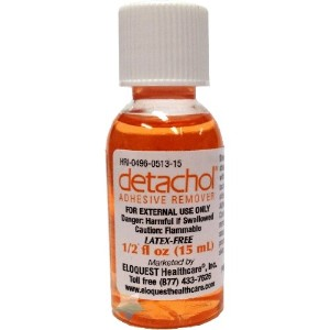 Detachol Adhesive Remover 1/2 (.5) oz Screw Top Bottle, 15 mL by Detachol