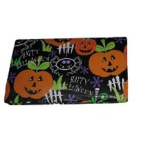 Happy Halloween Pumpkins Spiders jack-o-lanternsビニールテーブルクロス 52x90 Inch Oblong