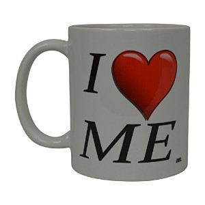 Best面白いコーヒーマグI Love Me Heart Novelty Cup Wives Great Gift Idea