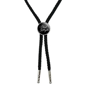 Blessed Goddaughter onブラックWestern SouthwestカウボーイネクタイBow Bolo Tie