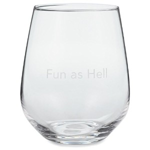 Fun as Hell Stemlessワインガラス、20オンスWine Glasses