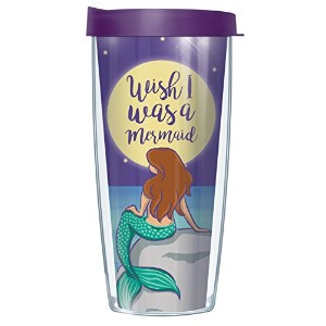 Mermaid Wishes 16oz。マグタンブラーCup with Lid 16oz