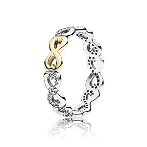 PANDORA Ringsパンドラリング無限の愛女性永遠の記念日結婚記念日-Infinite Love Stackable Ring, Clear CZ