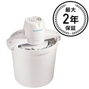 ハミルトンビーチ アイスクリームメーカー 3.8LHamilton Beach 68330N 4-Quart Automatic Ice-Cream Maker