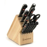 WUSTHOFヴュストホフ グルメデラックスナイフ14点セット(ブロック付) WUSTHOF Gourmet 14-Piece Deluxe Knife Block Set 9314