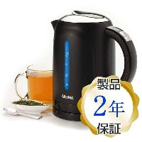 コードレス電気ケトル ブラックAroma 1.5 Liter Digital Electric Water Kettle, Black