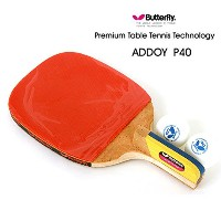 New Butterfly ADDOY P40 Table Tennis Racket Penholder Paddle Ping Pong Racket & Ball / Premium...