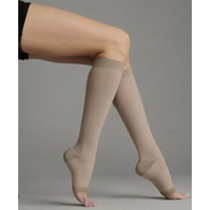 Juzo 2062AD IV IV Silver Soft Open Toe Knee High Regular 30-40 mmHg Compression Stockings by Juzo