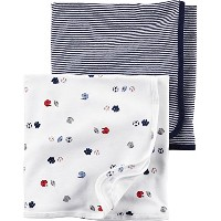 Carter's Navy Sports Swaddle Blankets - Baby Boys Newborn - 24 Months by Carter's