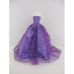 バービー 着せ替え用ドレス/服 Pur8 (Light Purple Ball Gown with Lots of Sparkle Made to Fit Barbie Doll )
