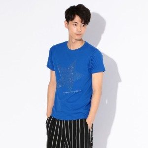 SALE【ギルドプライム(GUILD PRIME)】 【Education from Youngmachines】MENS ストーンフロントスターT ブルー