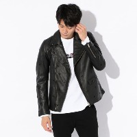 SALE【GUILD PRIME ギルドプライム】 ◇◇【Education from Youngmachines】MENS スターエンブロイWレザー ブラック メンズ