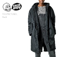 【SALE】Cheap Monday(チープマンデー)FANATIC PARKA Black スキニー/デニム