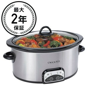 スロークッカー 3.8L クロックポットCrock-Pot 4-Quart Stainless Steel Slow Cooker SCCPVP400-S