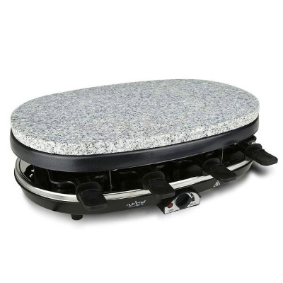 ラクレットグリル 8人用 ストーンプレート付 NutriChef Raclette Grill , 8 Person Party Cooktop, Stone Plate & Metal...