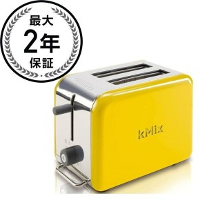 デロンギ トースター 2枚焼 イエローDeLonghi Kmix 2-Slice Toaster Yellow DTT02YE