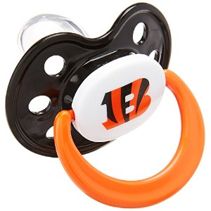 Baby Fanatic Pacifiers, Cincinnati Bengals, 2 Count by Baby Fanatic