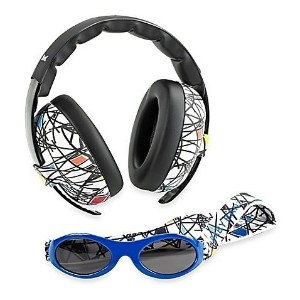 Baby Banz Earmuffs and Infant Hearing Protection and Sunglasses Combo 0-2 Years, Squiggle by Baby Banz