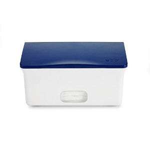 Ubbi Wipes Dispenser with Weighted Plate, Navy by Ubbi