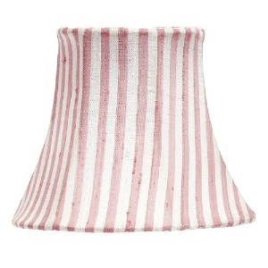 Jubilee Collection 2419 Chandelier Shade with White Stripe, Pink by Jubilee Collection