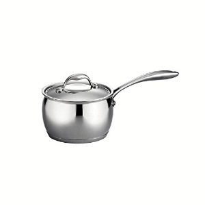 Tramontina Gourmet 2 Quart 18/10 Stainless Steel Tri-Ply Base Covered Sauce Pan by Tramontina ...