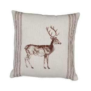 Primitives by Kathy Standing Deer Throw Accent Pillow by Primitives By Kathy [並行輸入品]