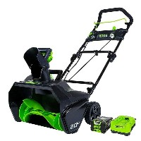 本格 コードレス 除雪機 雪かき機 充電式 GreenWorks Pro 80V 20-Inch Cordless Snow Thrower, 2Ah Battery & Charger...