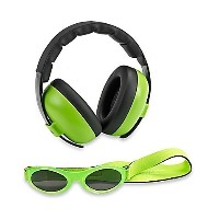 Baby Banz Earmuffs and Infant Hearing Protection and Sunglasses Combo 0-2 Years, Lime Green by Baby...