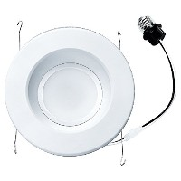Nicor Lighting DLR56-3012-120-3K-WH 3000K 1200 lm LED Recessed Downlight, 6', White [並行輸入品]