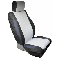 Rampage 5057921 Wrangler Jk Custom Fit Polycanvas Seat Cover, Rear Set, Black And Gray, Jk 2 Door,...