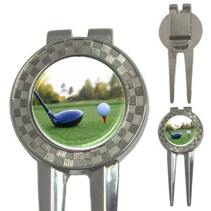 3 in 1 Golf Ball Marker Divot Tool – On the Green