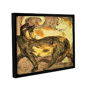 ArtWall Franz Marc 's Two CatsギャラリーWrappedフロータ額入りキャンバス 24x32 1mar013a2432f