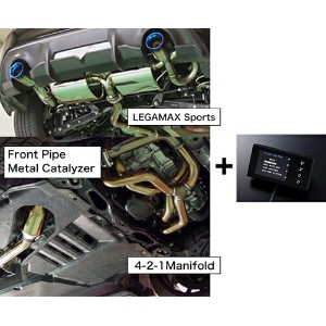HKS SUPER EXHAUST ECU PACKAGE (LEGAMAX Sports Ti) スバル BRZ MC後 ZC6用 (33009-AT009)【マフラー】エッチケーエス...