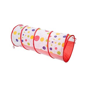 【[Canaloha]Canaloha Kids Colorful Crawl Play Tunnel Polka Dot 1.2M Popup Tents Tube Toy CPT008 ...