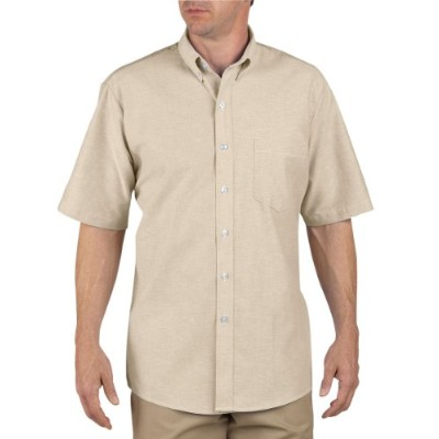 Dickies Occupational Workwear SS46TK 195 Polyester/ Cotton Men's Button-Down Short Sleeve Oxford...