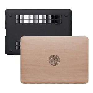 Macbook Air 13ケース – ソフトPUレザーコーティングSee Throughハード保護ケースカバーfor MacBook Air 13.3インチ (A13, Yellow Wood...