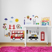 Bus to London Baby/Nursery Wall Sticker Decals for Boys and Girls by CherryCreek Decals