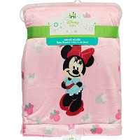 Disney Minnie Mouse Printed Velboa Baby Blanket by Disney