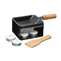 Raclette - Individual - 9.5cm Non Stick Pan with Burner & Stand - Gift Boxed - ラクレット - 個々 - バーナー...