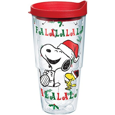 Tervis 1211662Peanutsクリスマスサンタ蓋、千とスヌーピーとウッドストックタンブラーputs a Song in Your heart-and Great Beverages...
